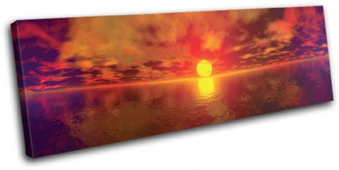 Panoramic Sunset Seascape - 13-0877(00B)-SG31-LO